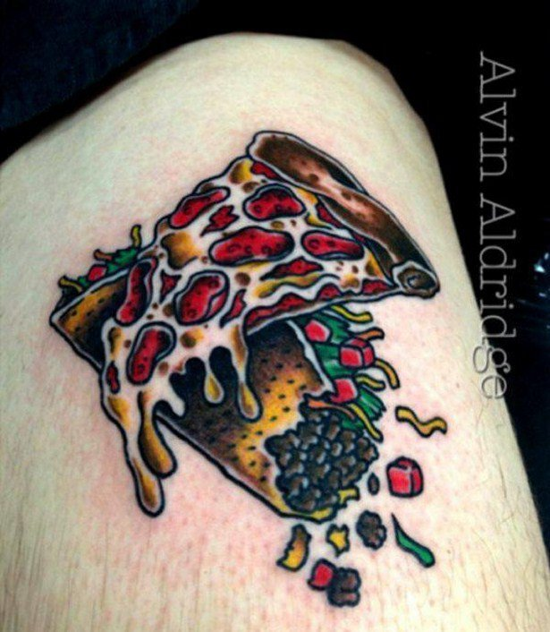 Yummy Taco Pizza Old Tattoo