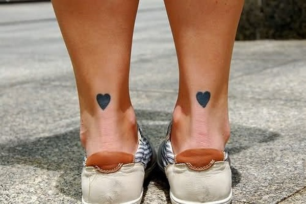 black heart pair love tattoo
