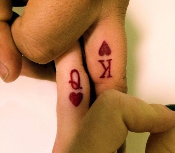 king queen couple tattoo