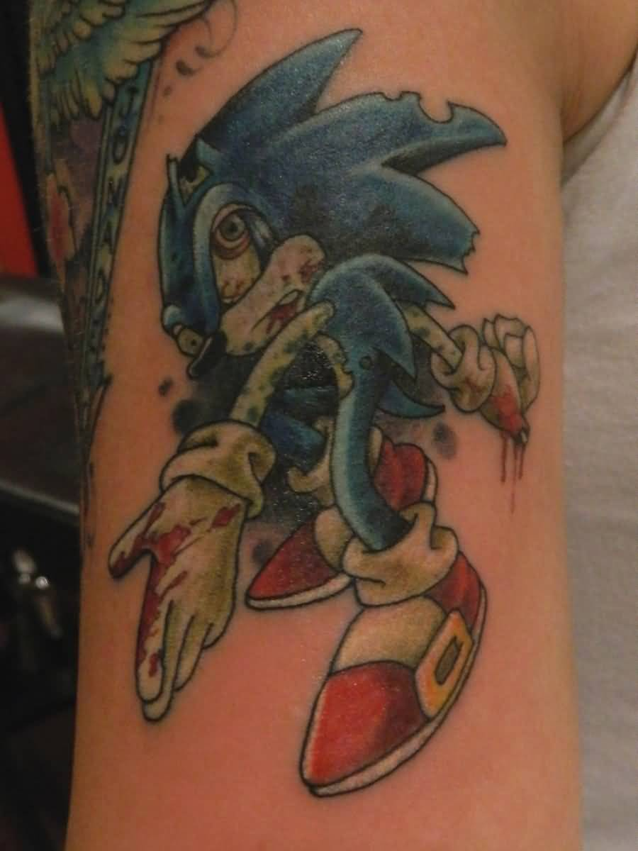 Awesome And Nice Sonic Vampire Tattoo
