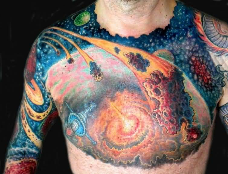 Fascinating Science Astronomy Tattoo For Men