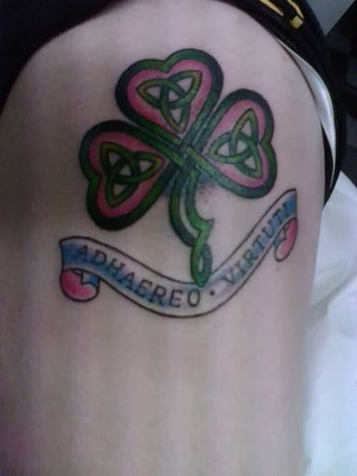 Nice Banner Celtic Knot Remembrance Tattoo