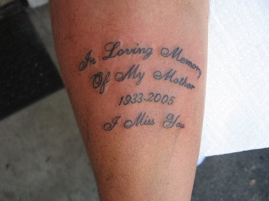 Nice Memorable Date Letters Tattoo For Lovely Remembrance Mon