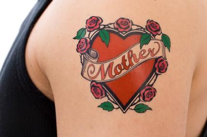 Remembrance Mother Banner Nice Flower Heart Tattoo