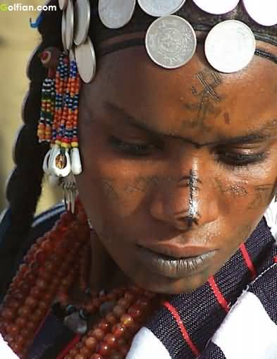 African Tattoo On Face