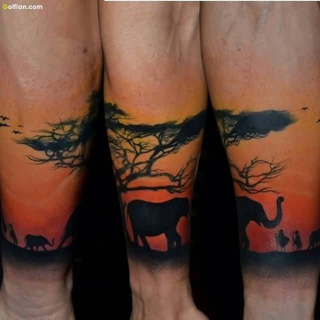 African Tattoo On Sleeve