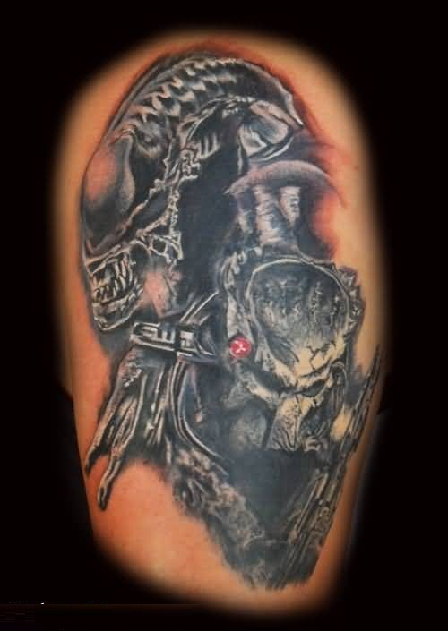 Alien Tattoo and Predator