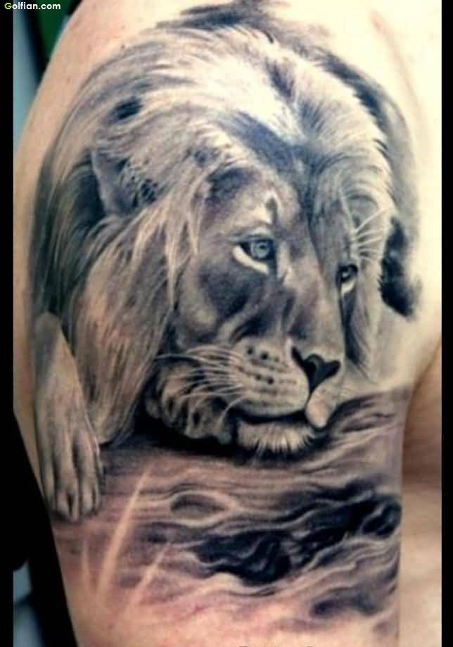 Alone Lion African Tattoo