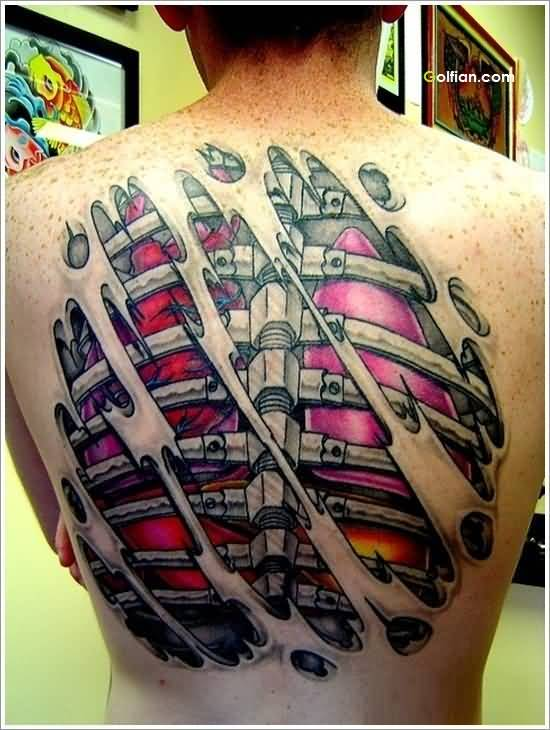 Animated Back 3d Tattoo