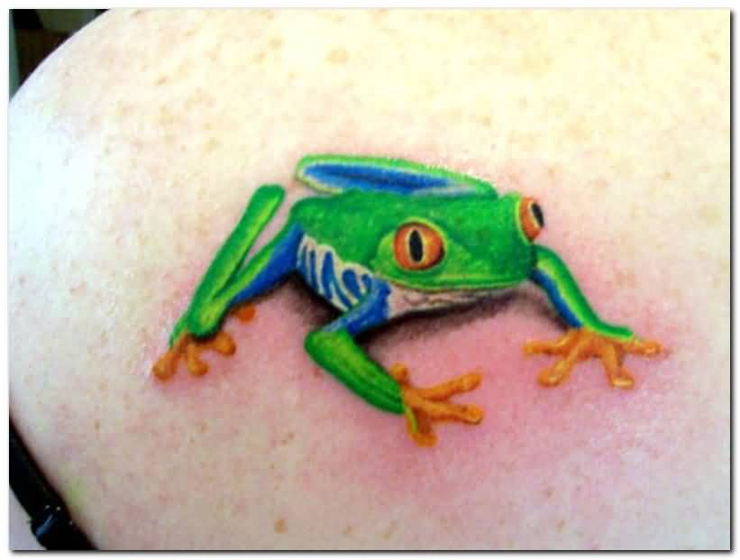 Attractive Frog Tattoo
