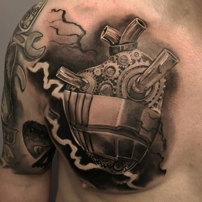 Awesome 3d Biomechanical Tattoos