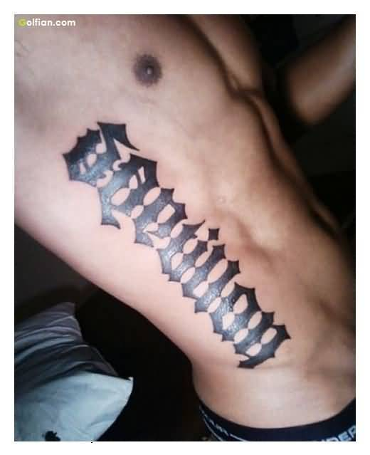 Awesome Bold Ambigram Tattoo