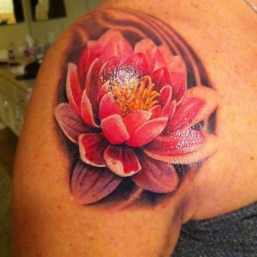 Awesome Lotus Tattoo Picture
