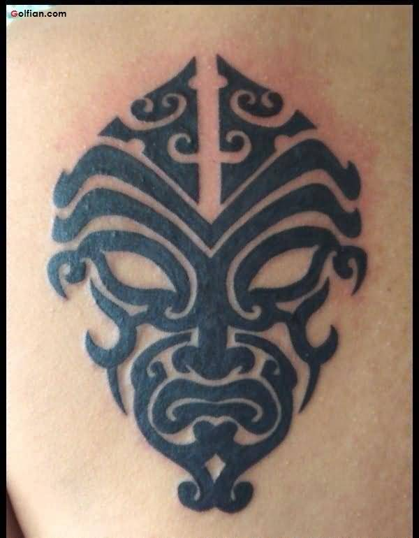 Awesome Mask African Tattoo