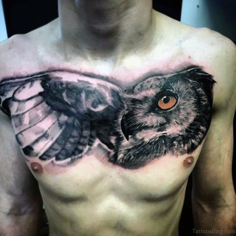Awesome Owl Face Tattoo