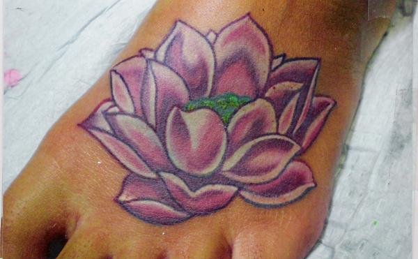 Awesome Pink Lotus Tattoo (3)