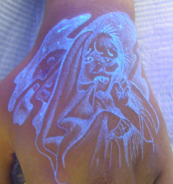 Awesome UV Face Tattoo
