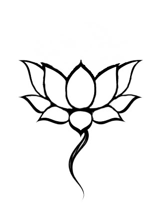 Black Nice Lotus Tattoo