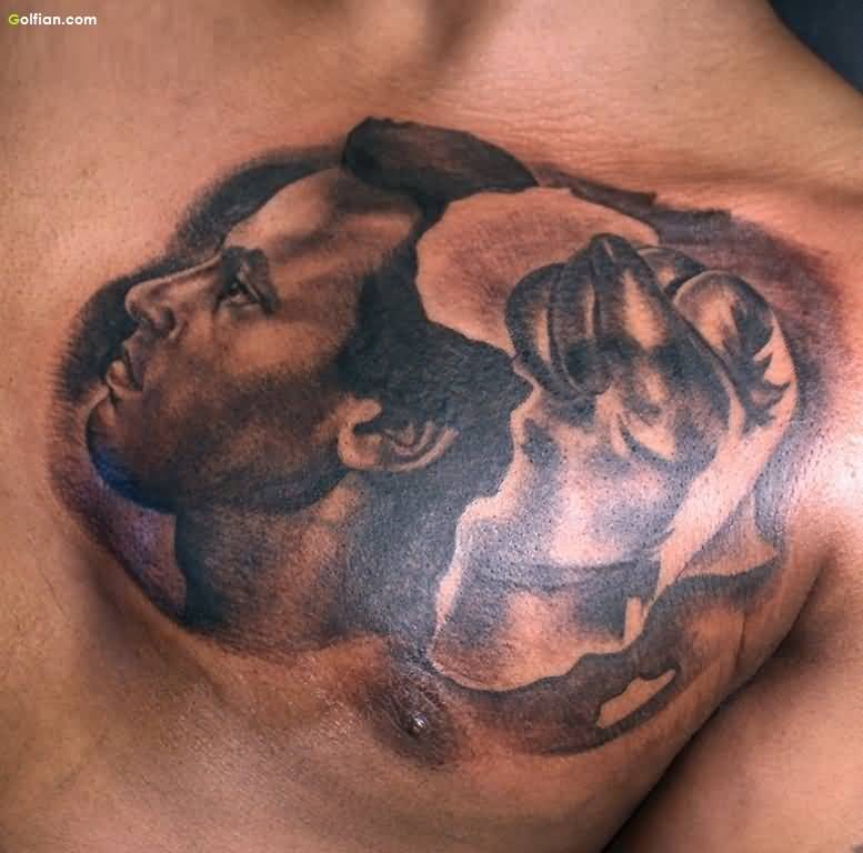 Chest African Tattoo