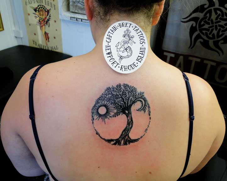 Circle Tree Tattoo