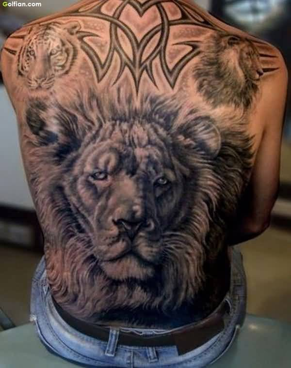 Cool Lion African Tattoo