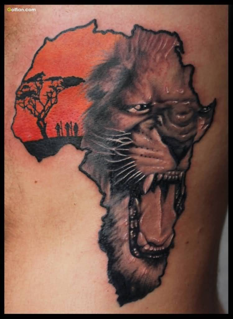 Culture African Tattoo Of Map