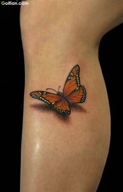 Cutest Butterfly 3d Tattoo