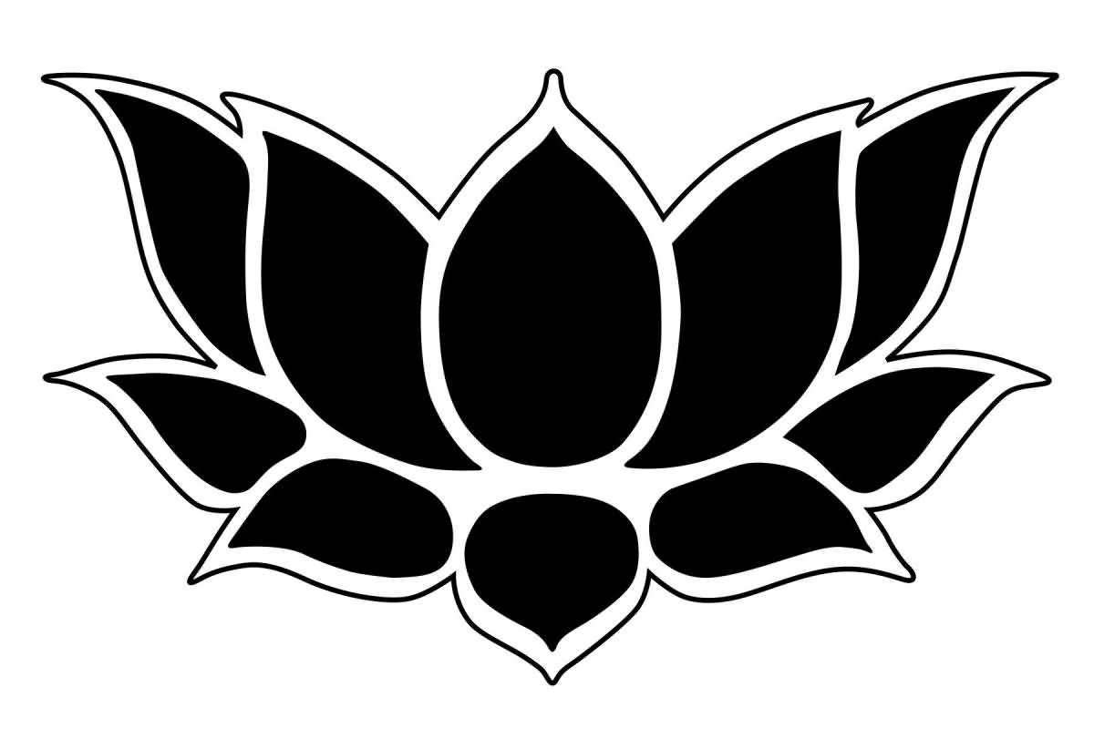 Dark Black Lotus Tattoo (2)