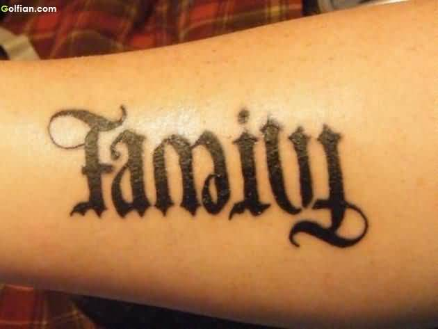 Famous Family Ambigram Tattoo
