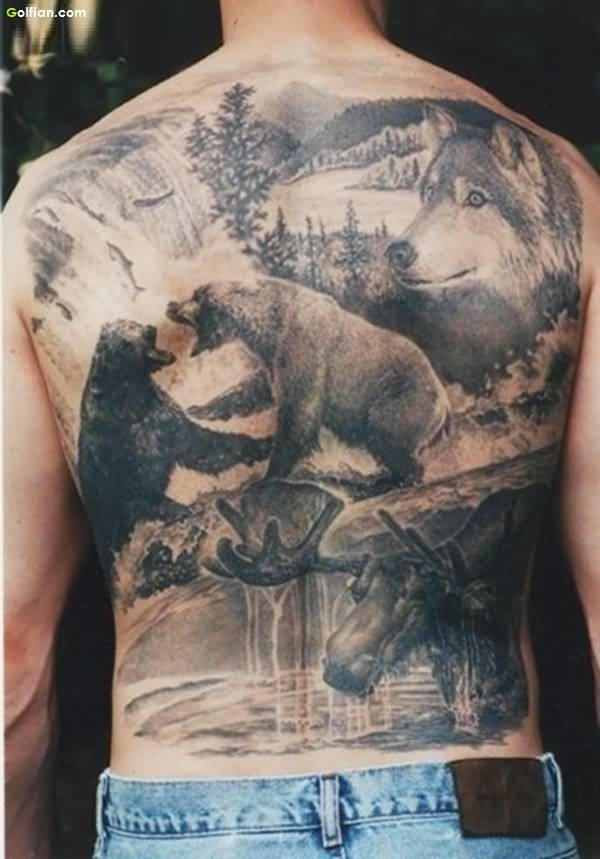 Fighting Animal African Tattoo