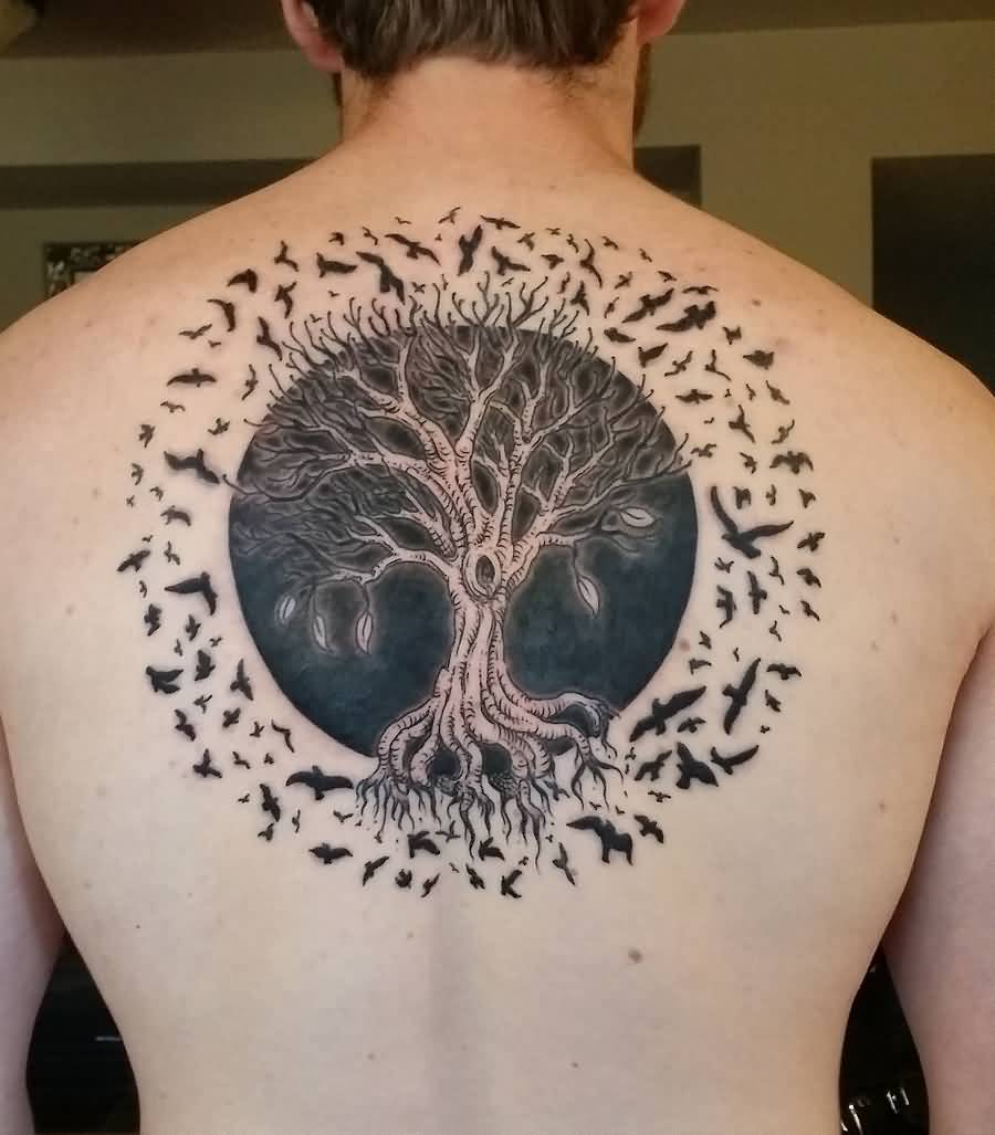 Flying Birds Tree Tattoo