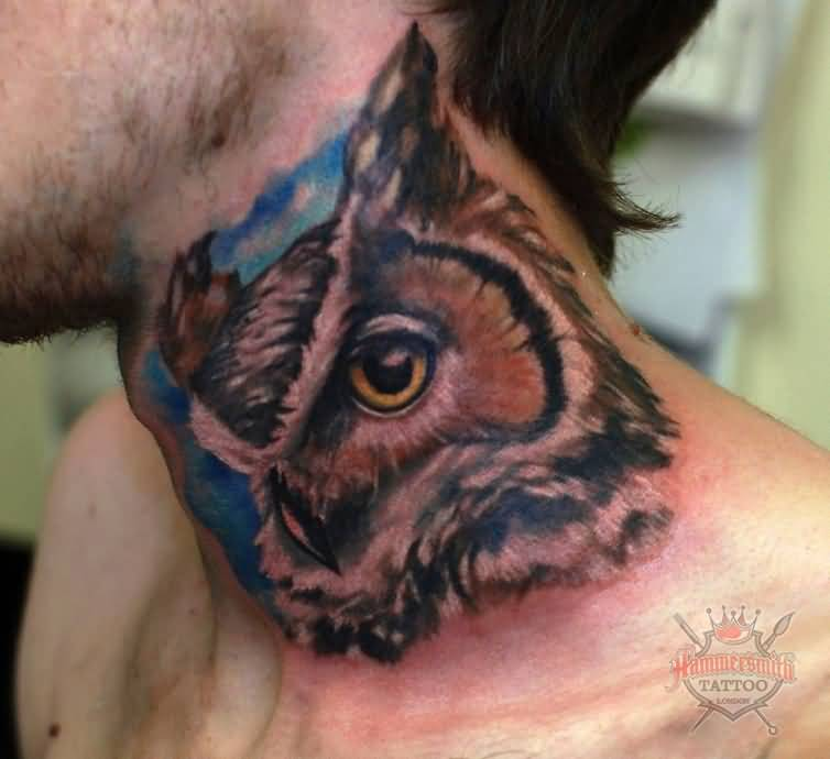 Great Looking Owl Tattoo