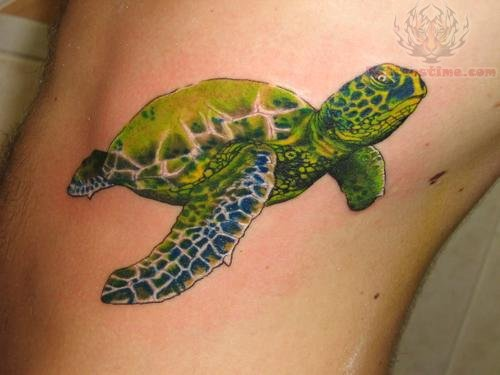 Green Amazing Sea Creature Tattoo
