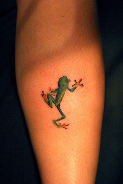 Green Simple Frog Tattoos