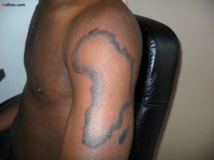 Grey Ink African Tattoo