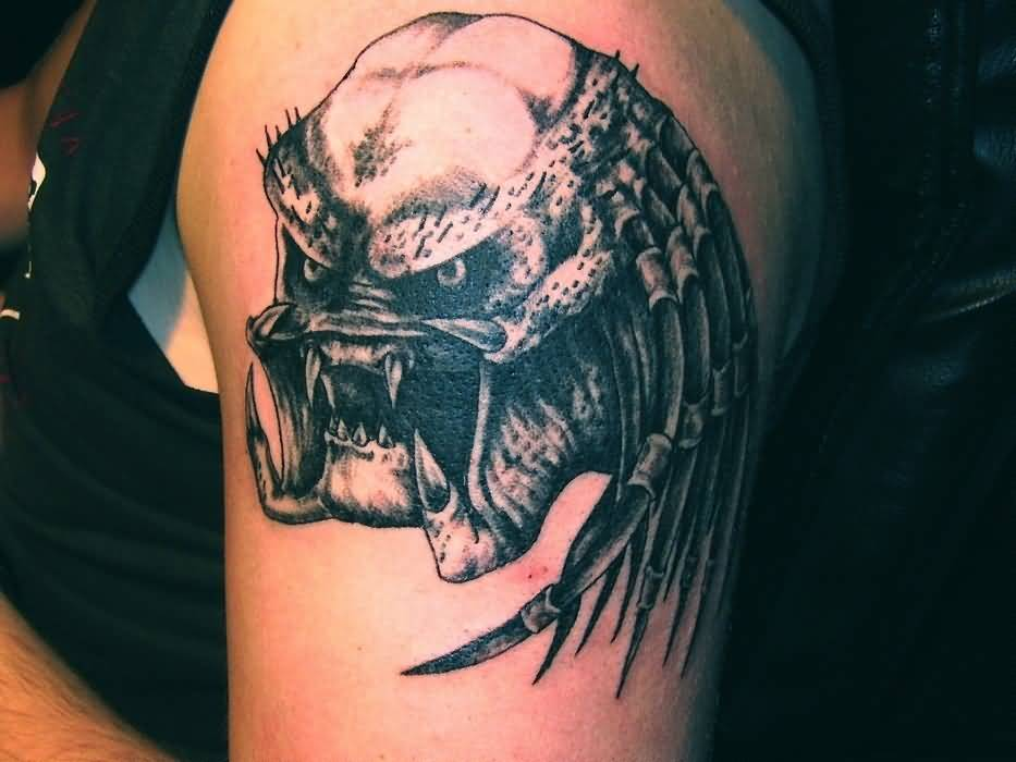 Head Predator Alien Tattoo