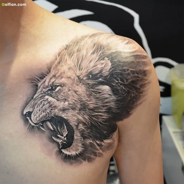 Impressive Lion African Tattoo