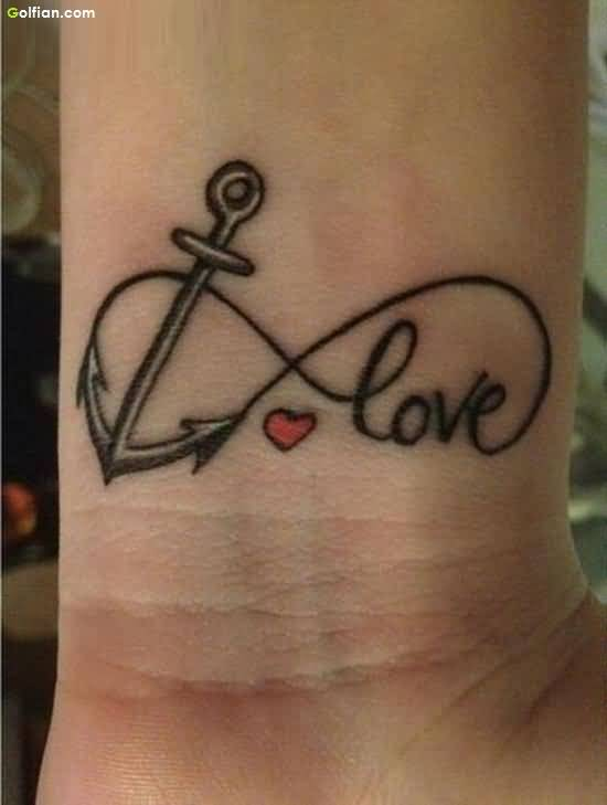 Infinity Love Anchor Tattoo