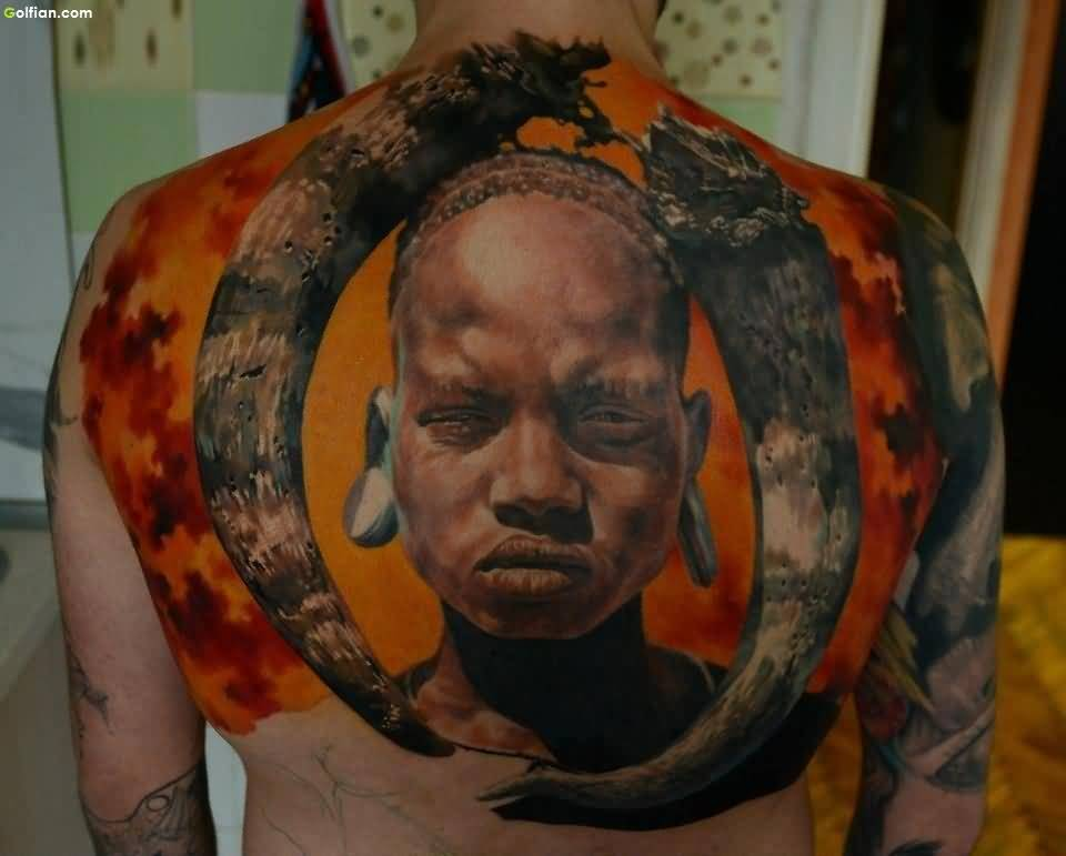 Mind Blowing African Tattoo