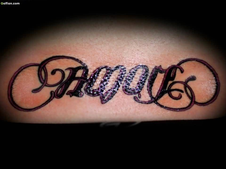 Mind Blowing Ambigram Tattoo