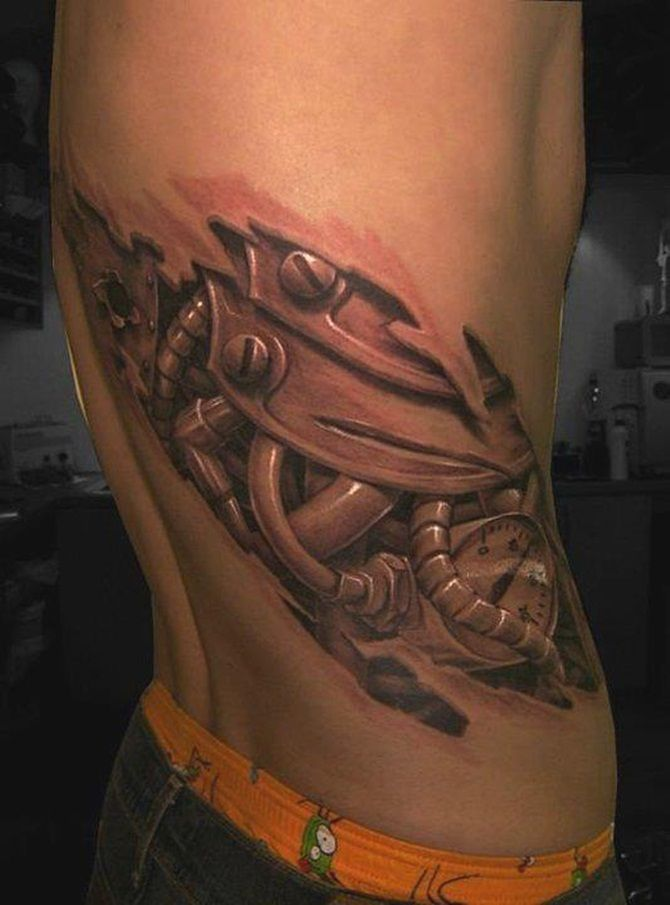 Mind Blowing Biomechanical Tattoos (3)