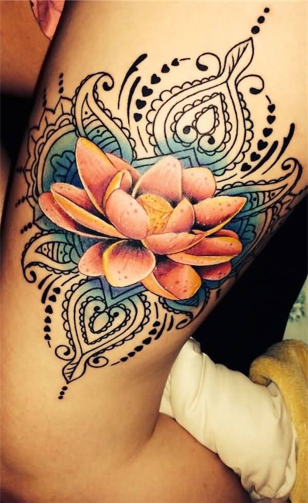 Mind Blowing Lotus Tattoo