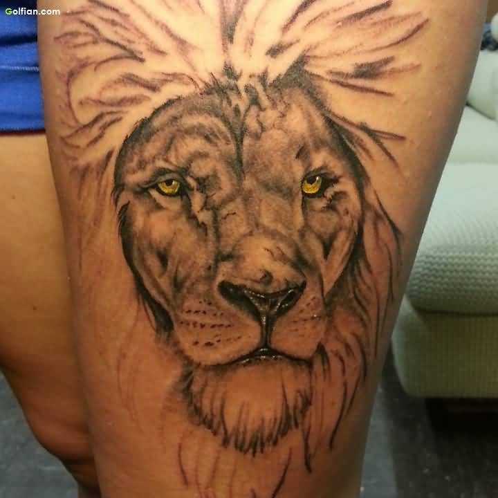 Nice Lion African Tattoo