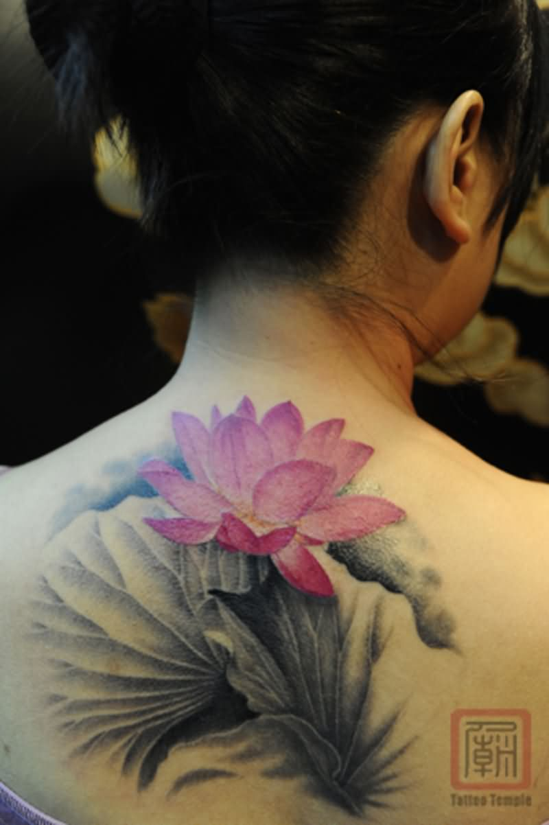 Nice Pink Lotus Tattoo (2)