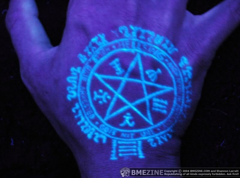 Nice UV Symbol Tattoo Image
