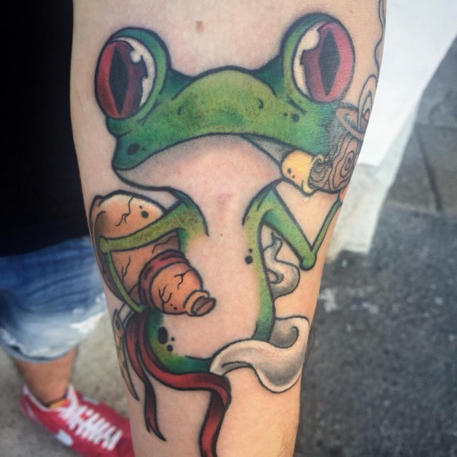 Oldest Frog Tattoo