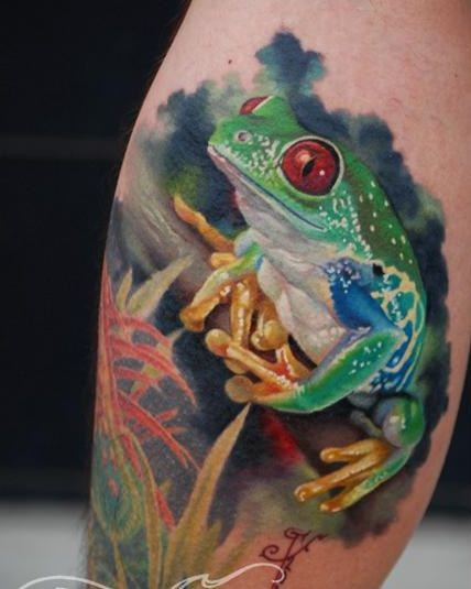 Outstanding Frog Tattoo