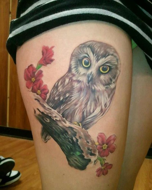 Real Awesome Owl Tattoo