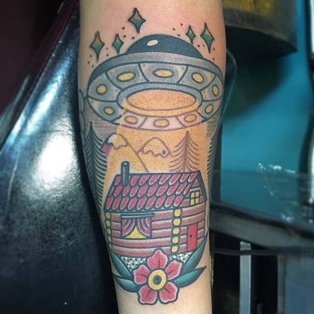 Real Ufo Alien Tattoo