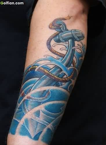 Realistic Anchor Tattoo